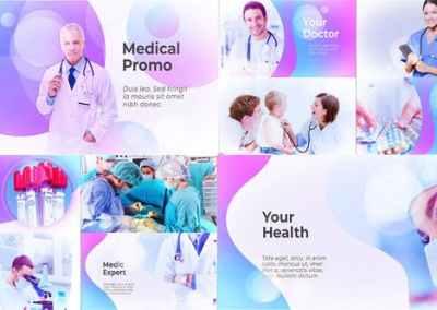 فيديو طبي نماذج متنوعة من التصميمات وأفكار جاهزة للمراكز الطبية