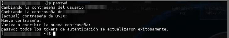 Cambiar contraseña en Linux