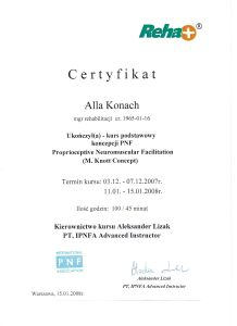 Certyfikat ALLA 14