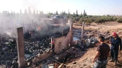 Photo of اصابة 11 شخصاً نتيجة حريق في مستودع لتعبئة الغاز بحماة