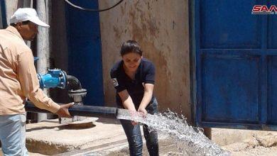 Photo of تأهيل أربع آبار لمياه الشرب في تجمع مفرق حجيرة للنازحين