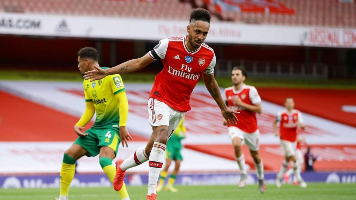 Pierre-Emerick Aubameyang 8 out of 10, Cedric Soares 7; Tim Krul 5 - Arsenal v Norwich player ratings