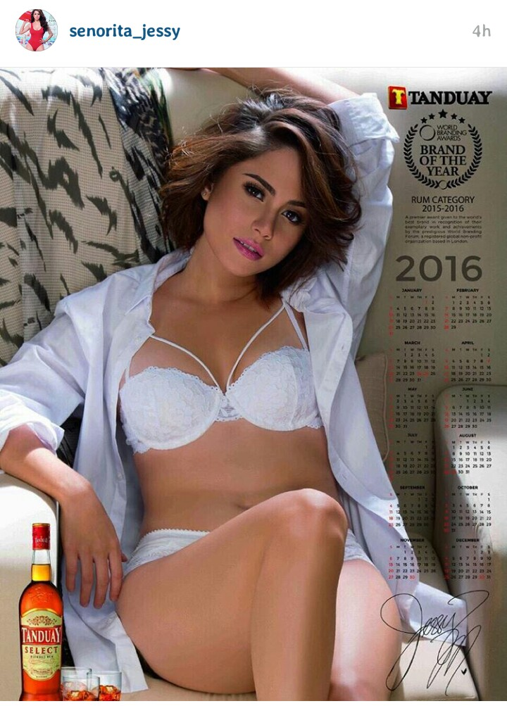 Jessy Mendiola is the Face of the 2016 Tanduay Calendar2