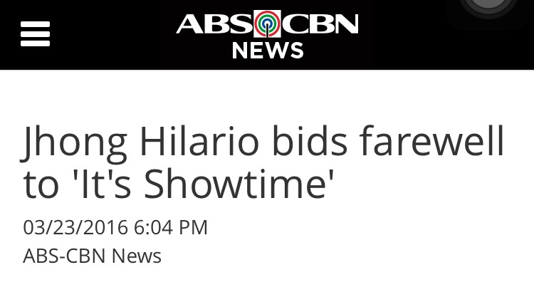 Jhong Hilario Leaves It's Showtime to Pursue Political Career1