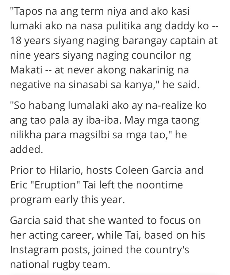 Jhong Hilario Leaves It's Showtime to Pursue Political Career3