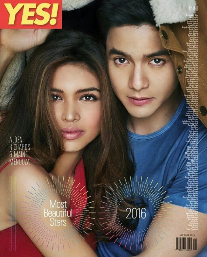 Alden Richards and Maine Mendoza for Yes!