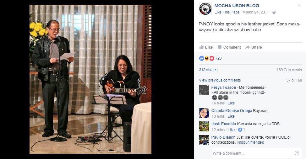 Screengrab from Mocha Uson Blog