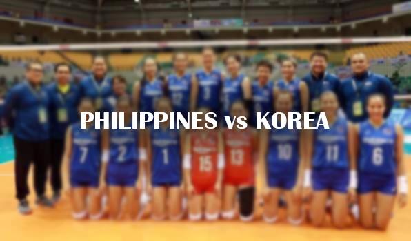 Philippines vs Korea AVC 2017