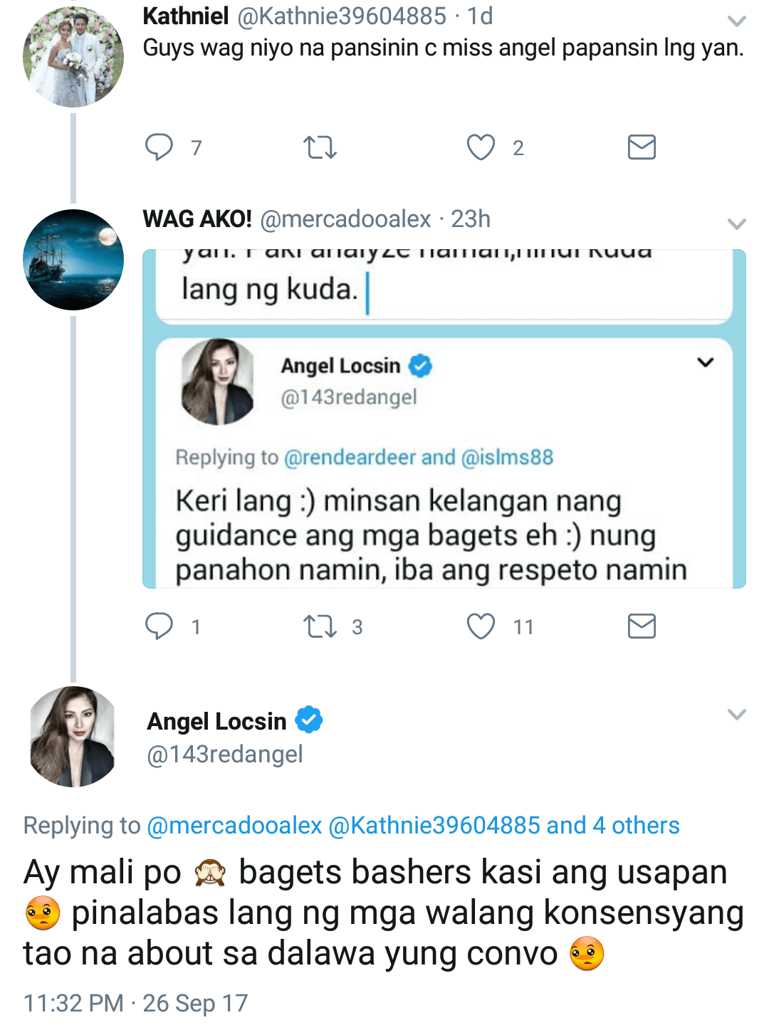 Angel Locsin Responds to Bashers
