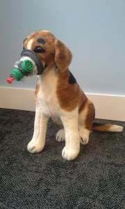 Stuffed Beagle with an Oxygen Max