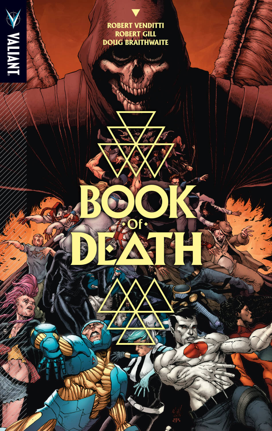 BOOK OF DEATH TPB – Cover by Robert Gill
