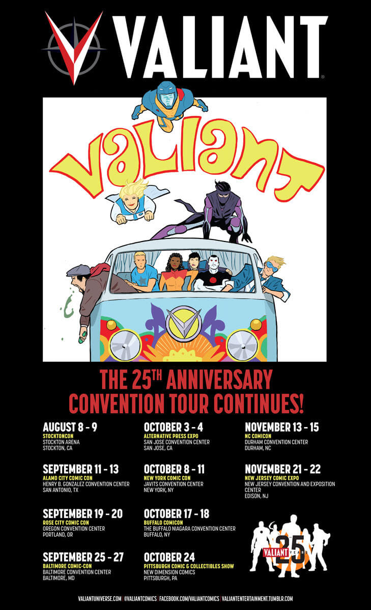 VALIANT 25th ANNIVERSARY CONVENTION  TOUR – Artwork by Michael Walsh