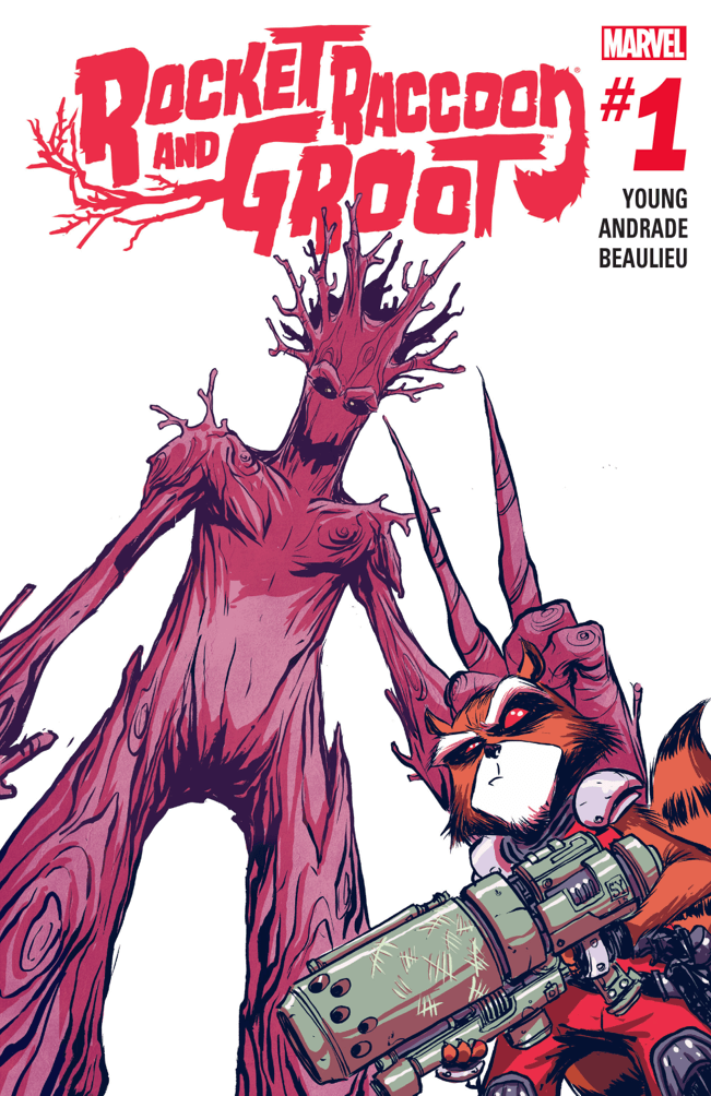 rocket raccoon and groot ad