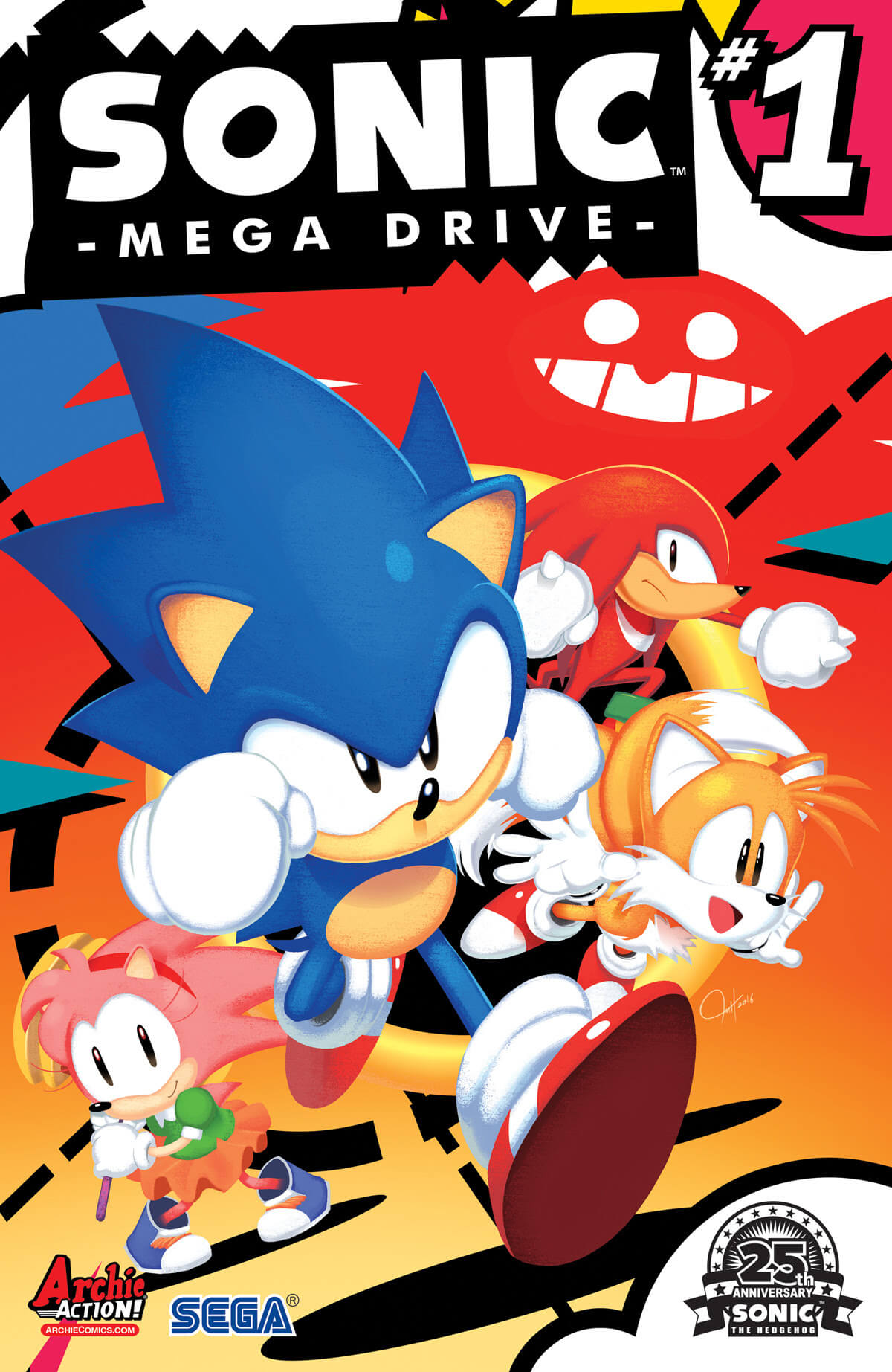 SONIC: MEGA DRIVE #1 cover by Tyson Hesse