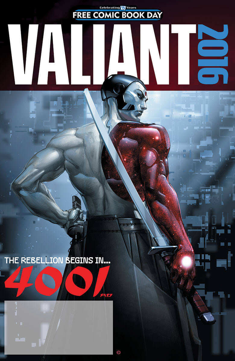 VALIANT: 4001 A.D. FCBD SPECIAL – Cover by Clayton Crain