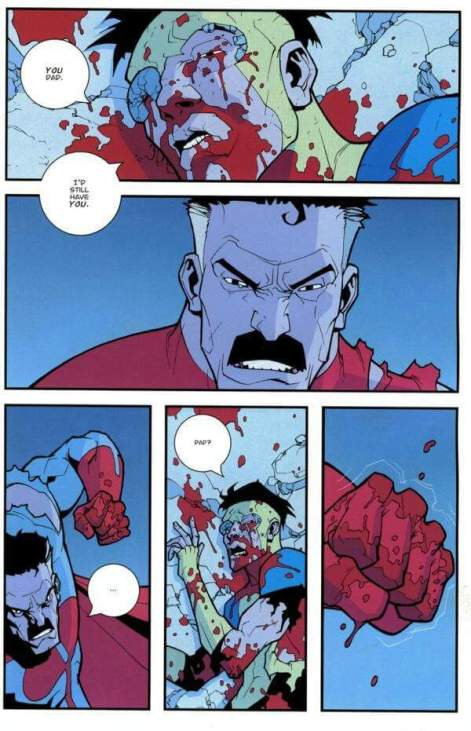 Invincible art by Ryan Ottley and Bill Crabtree