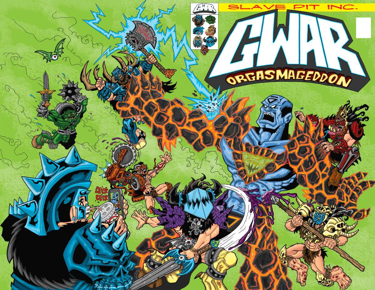 Wraparound cover (Kickstarter Exclusive): Matt Maguire (Sawborg Destructo) art and color