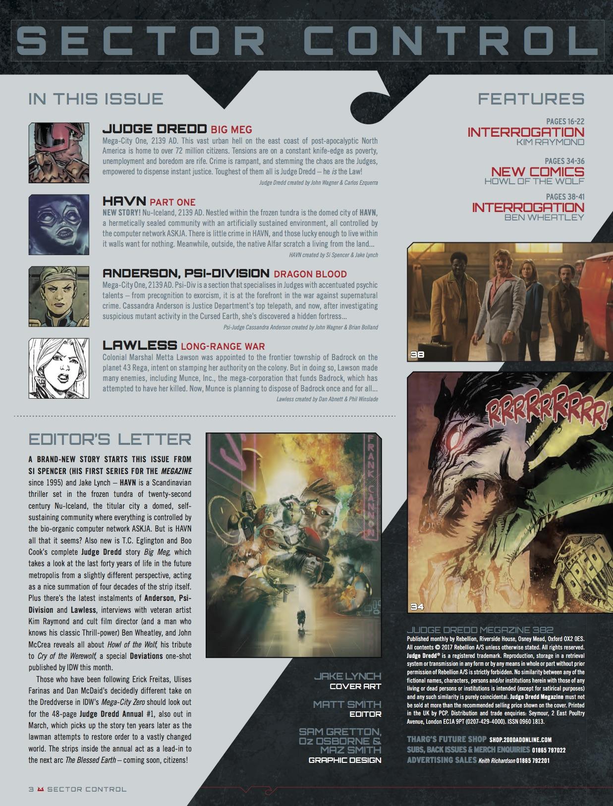 Preview: Judge Dredd Megazine #382 - All-Comic com