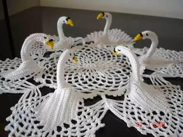 Лебеди вязанные крючком . Фото и схемы ~ ALL-DEKOR