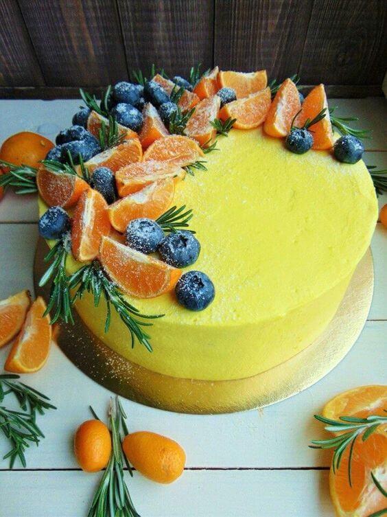 Как украсить торт ягодами и фруктами? 30 идей ~ ALL-DEKOR