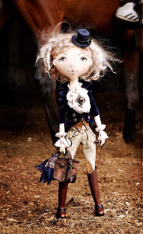Кукла текстильная Афина. Автор: Яна Яхина