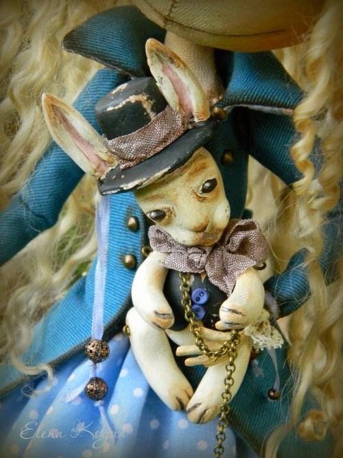 Елена Коган. Кукла Алиса и кролик