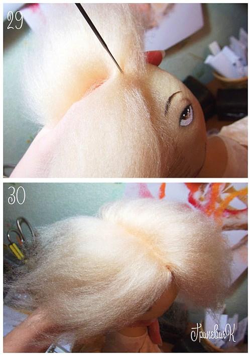 Сделать волосы для куклы