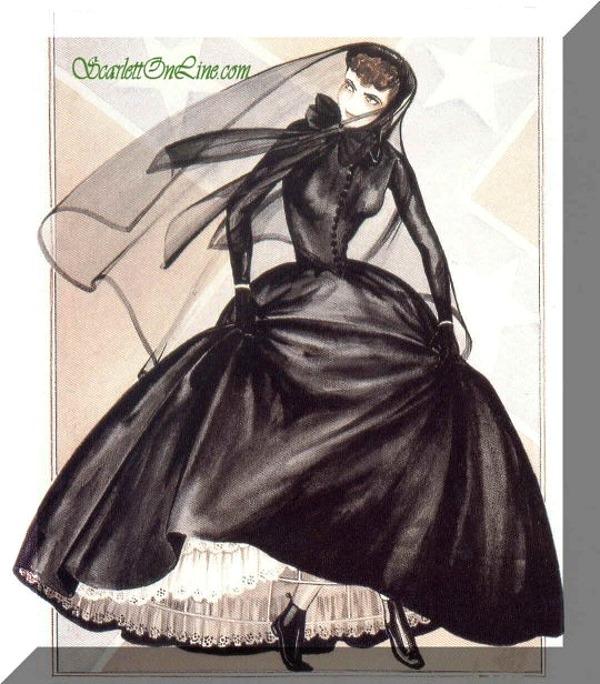 Траурное платье Скарлетт О'Хара