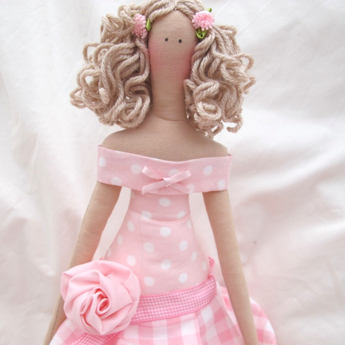 Волосы для куклы-тильды