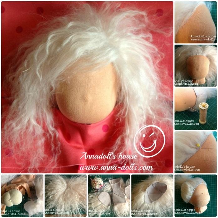 МК по изготовлению парика из меха для текстильной куклы