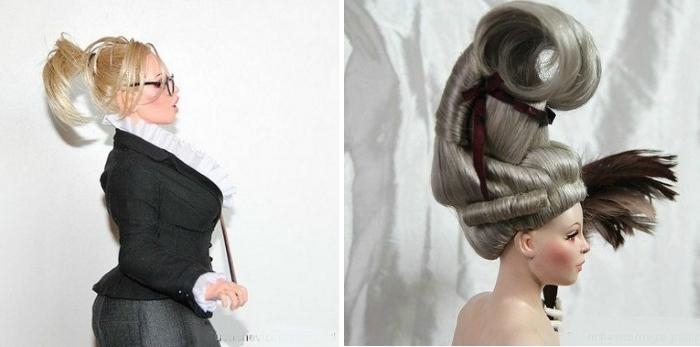 Волосы для куклы из искусственных локонов