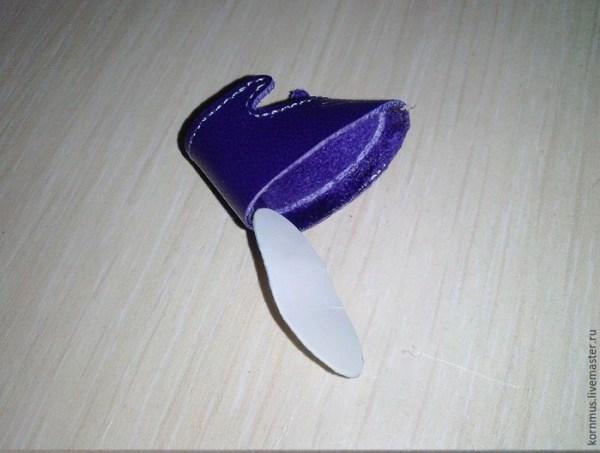 как сделать обувь на подошве для куклы