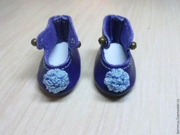 сшить ботиночки туфли для куклы