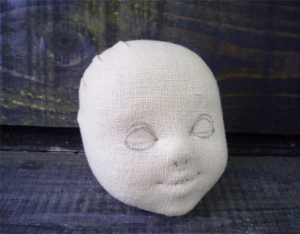 объемная голова для куклы