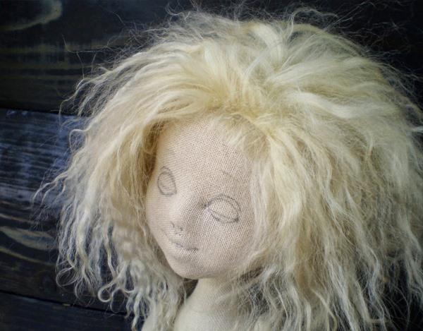 объемное лицо для куклы из ткани