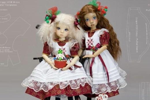МК: платье и фартучек для куклы
