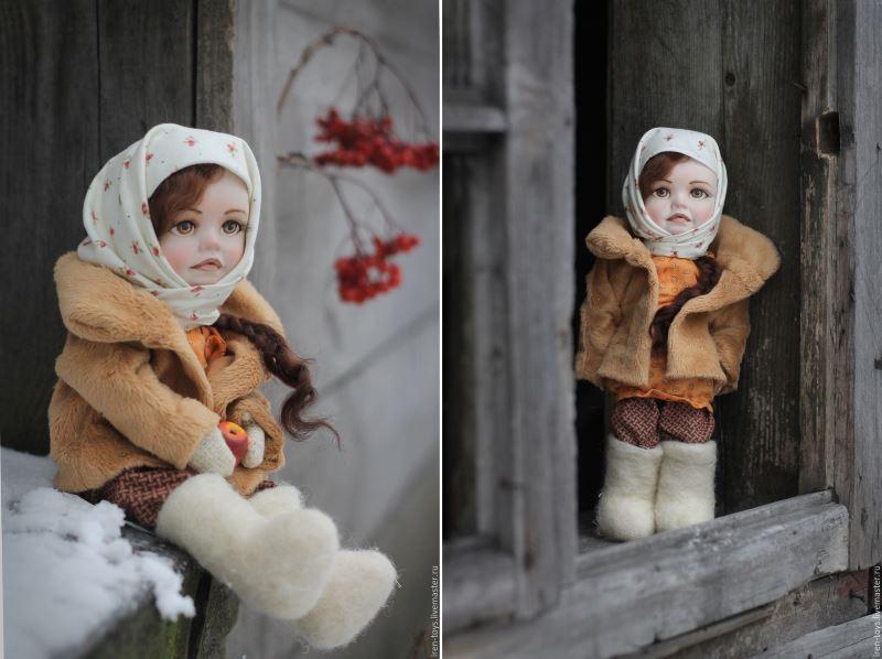 Кукла Василиса из паперклея. Автор: Ирина Щербакова
