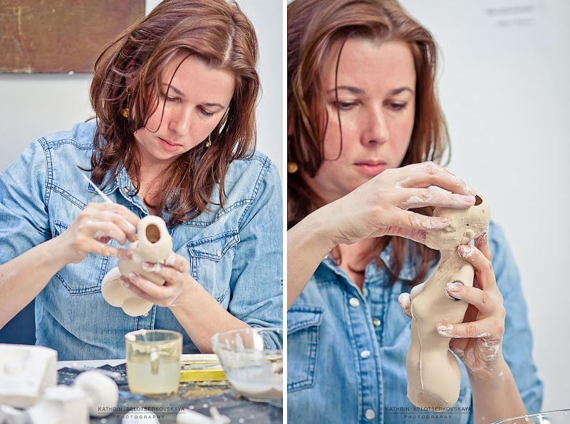 Процесс создания фарфоровой куклы. Мастер Саша Худякова