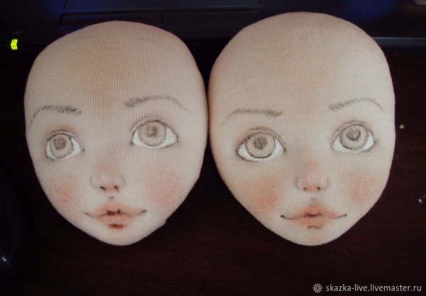 пошив текстильной головы куклы