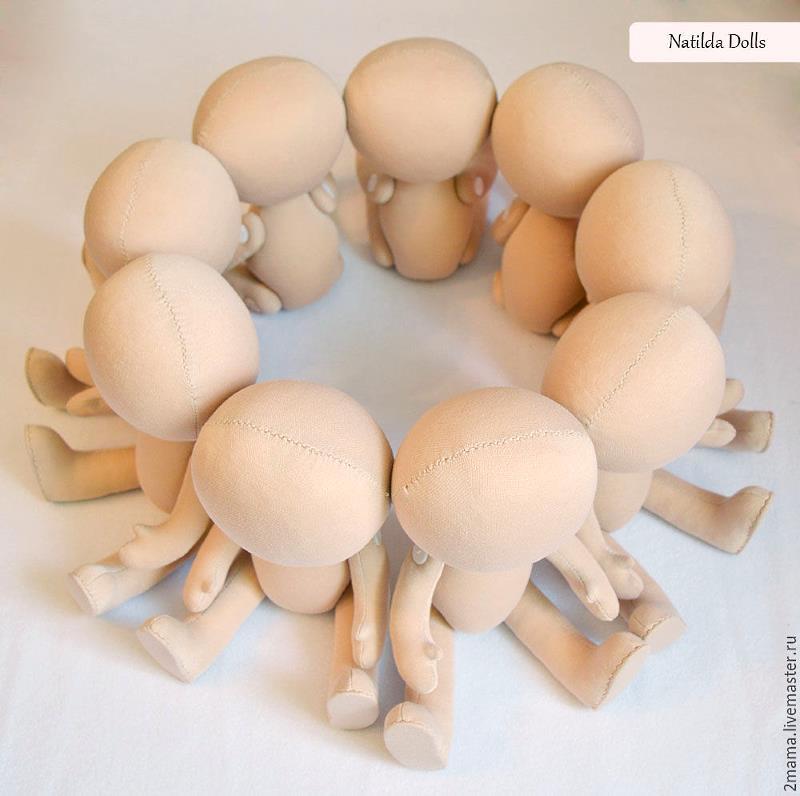 Трикотаж телесного цвета для тела кукол