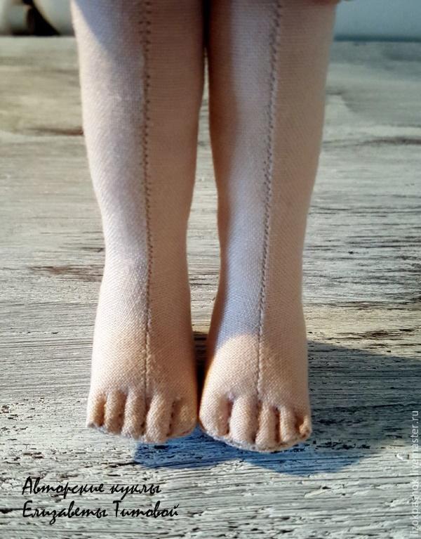 как пошить красивые ножки кукле