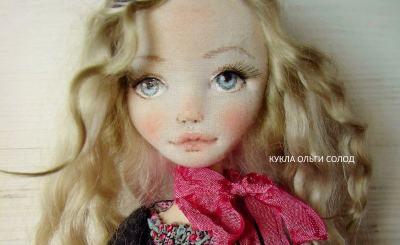 МК: выразительное лицо для куклы