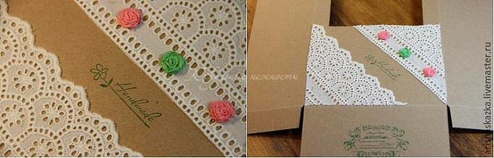 Декор коробки для куклы