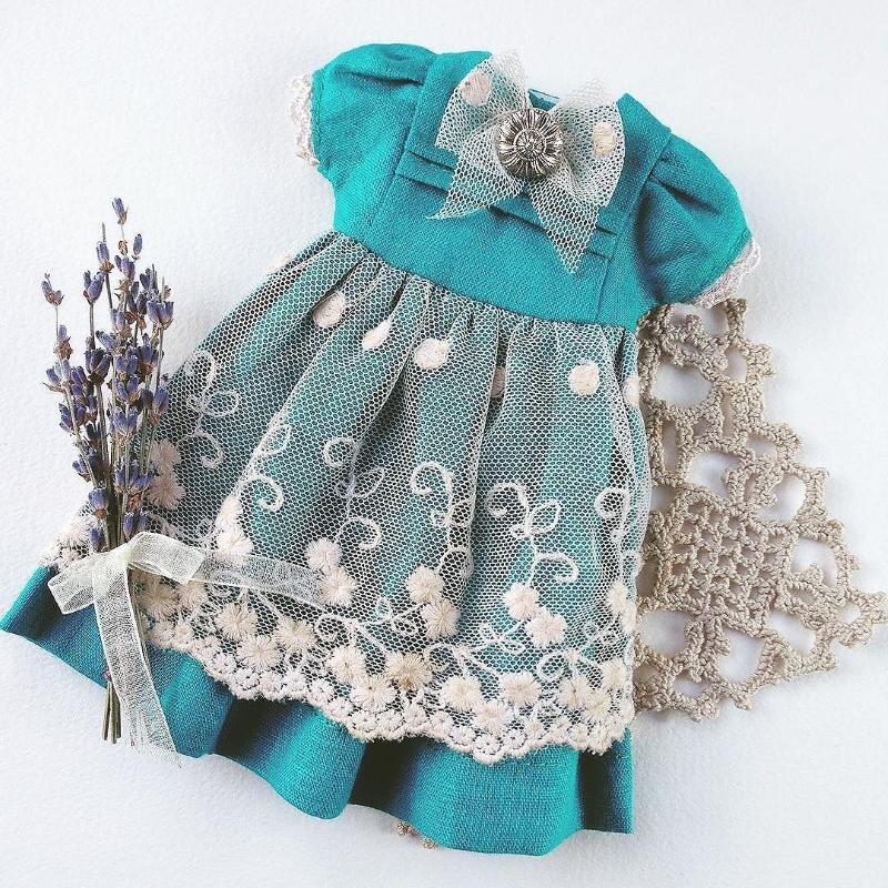 Платье для кукол Блайз от Дины Крыловой