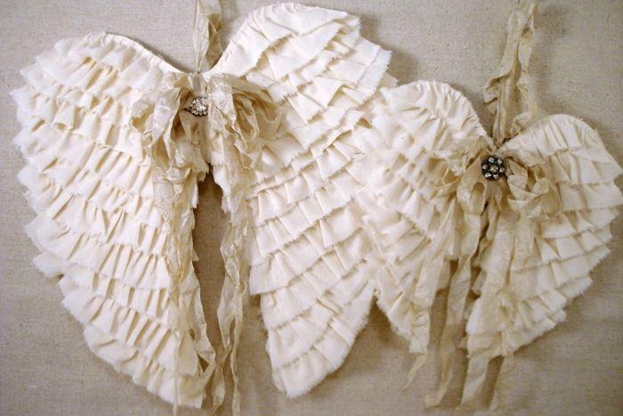 МК: крылья ангела из ткани