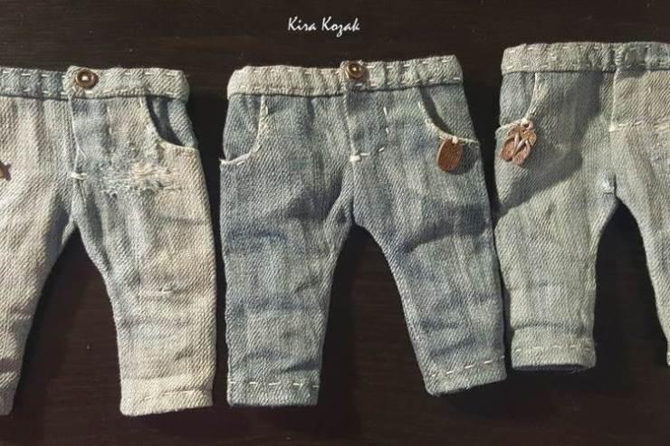 МК: джинсы для куклы