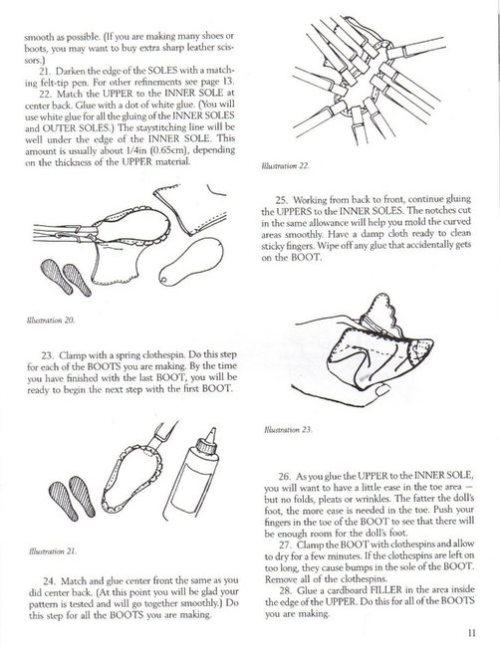 как сделать обувь для куклы