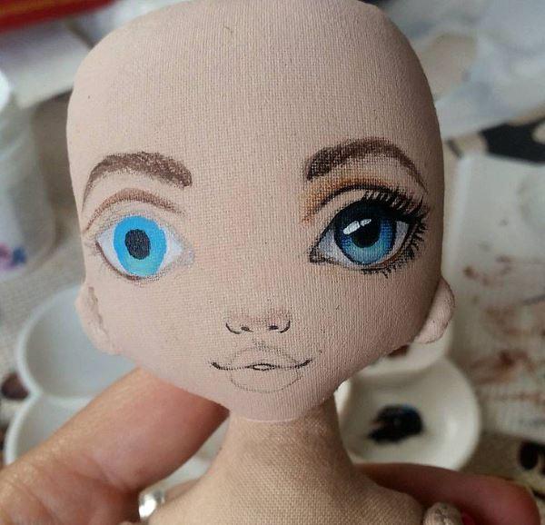 как нарисовать кукле лицо