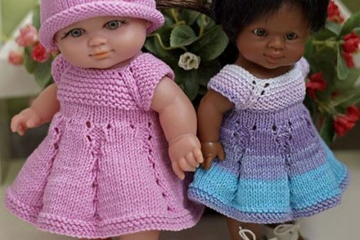 МК: вязаное платье для пупса