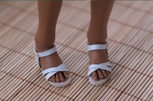 мк сандали для куклы